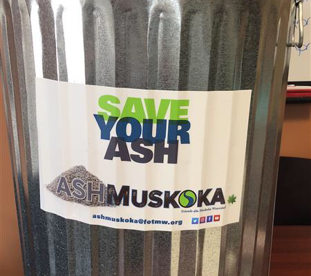 Save Your Ash galvanized can